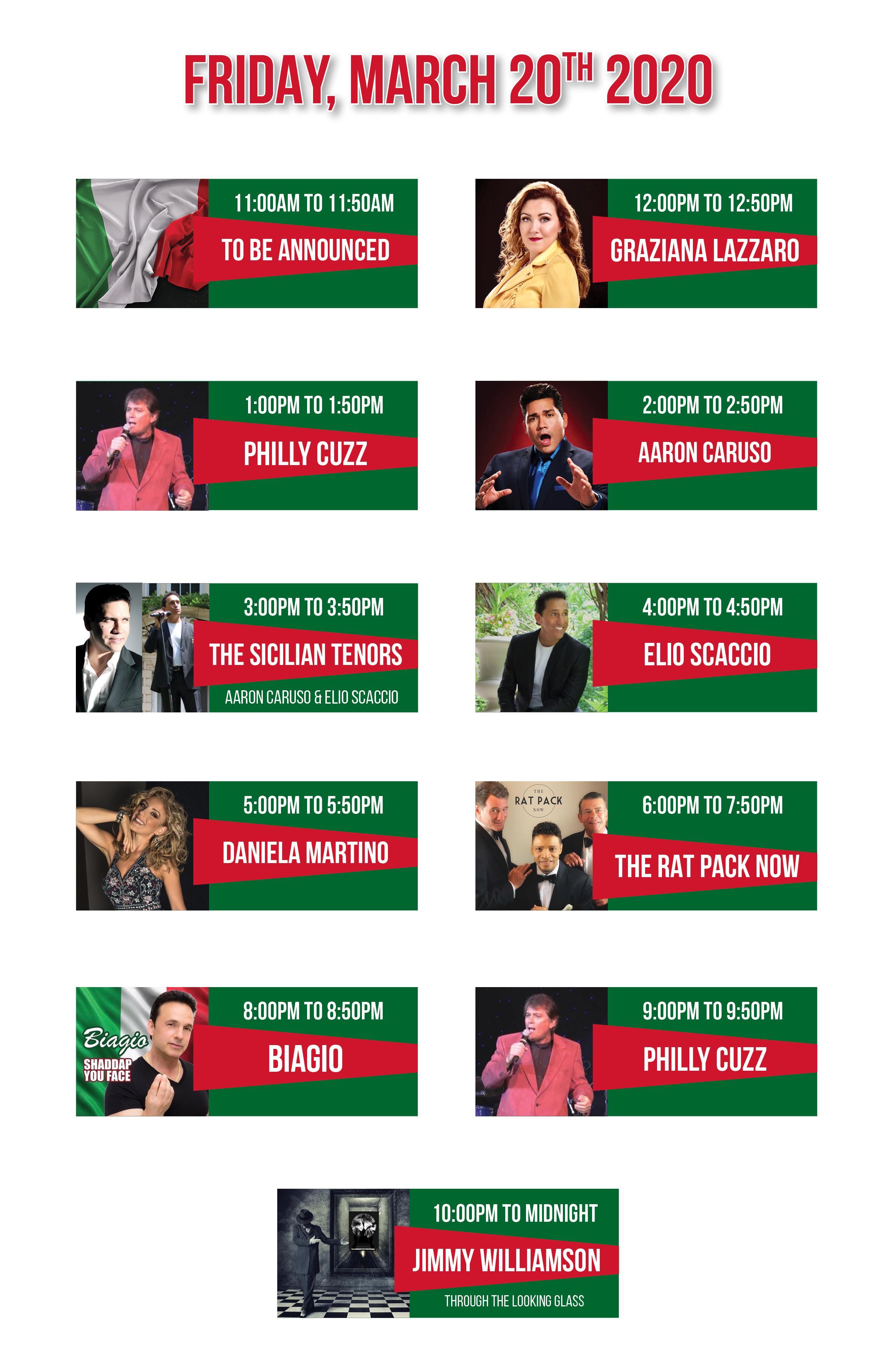 Entertainment Lineup March 20202 MECH