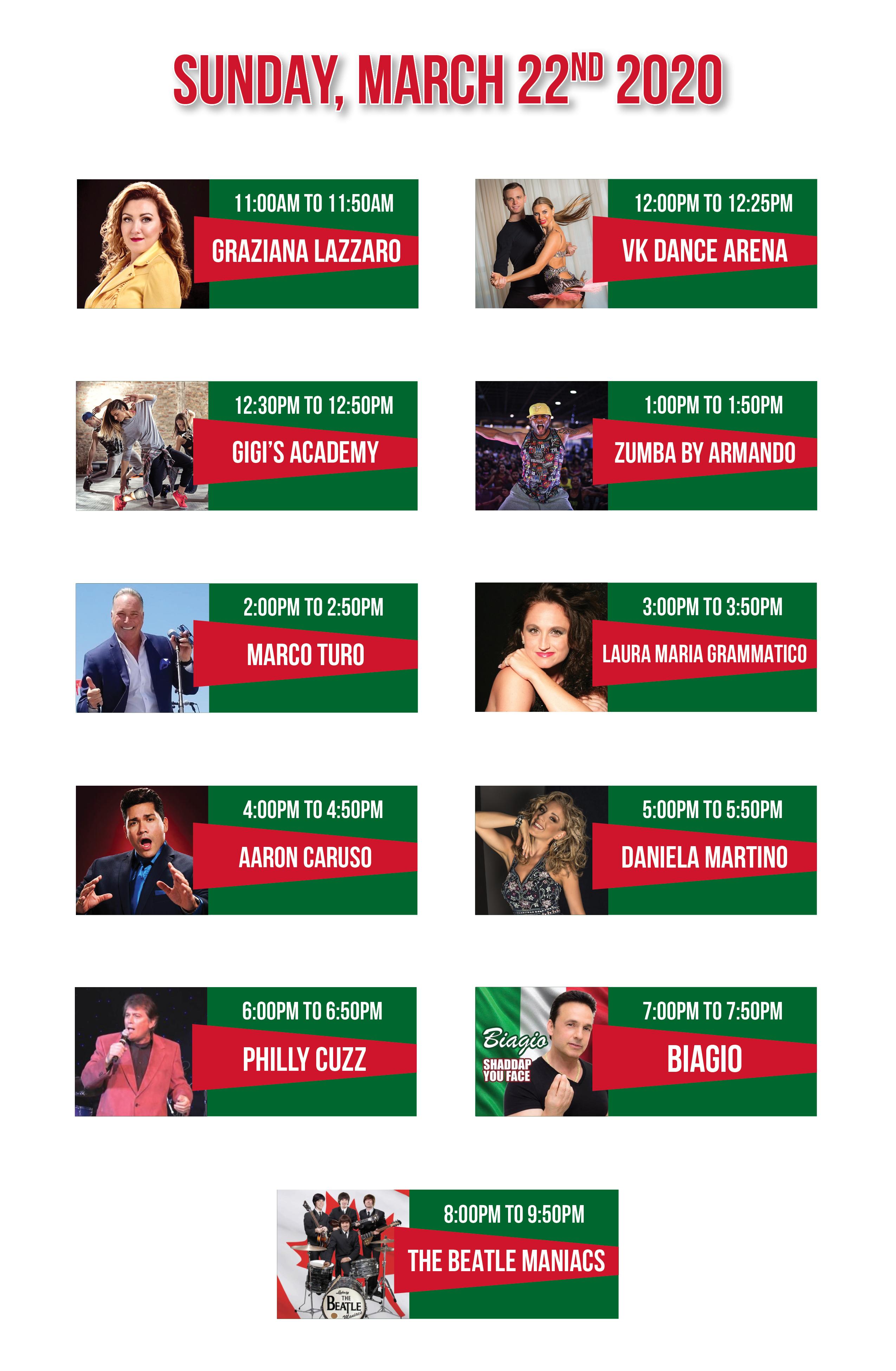 Entertainment Lineup March 20204 MECH