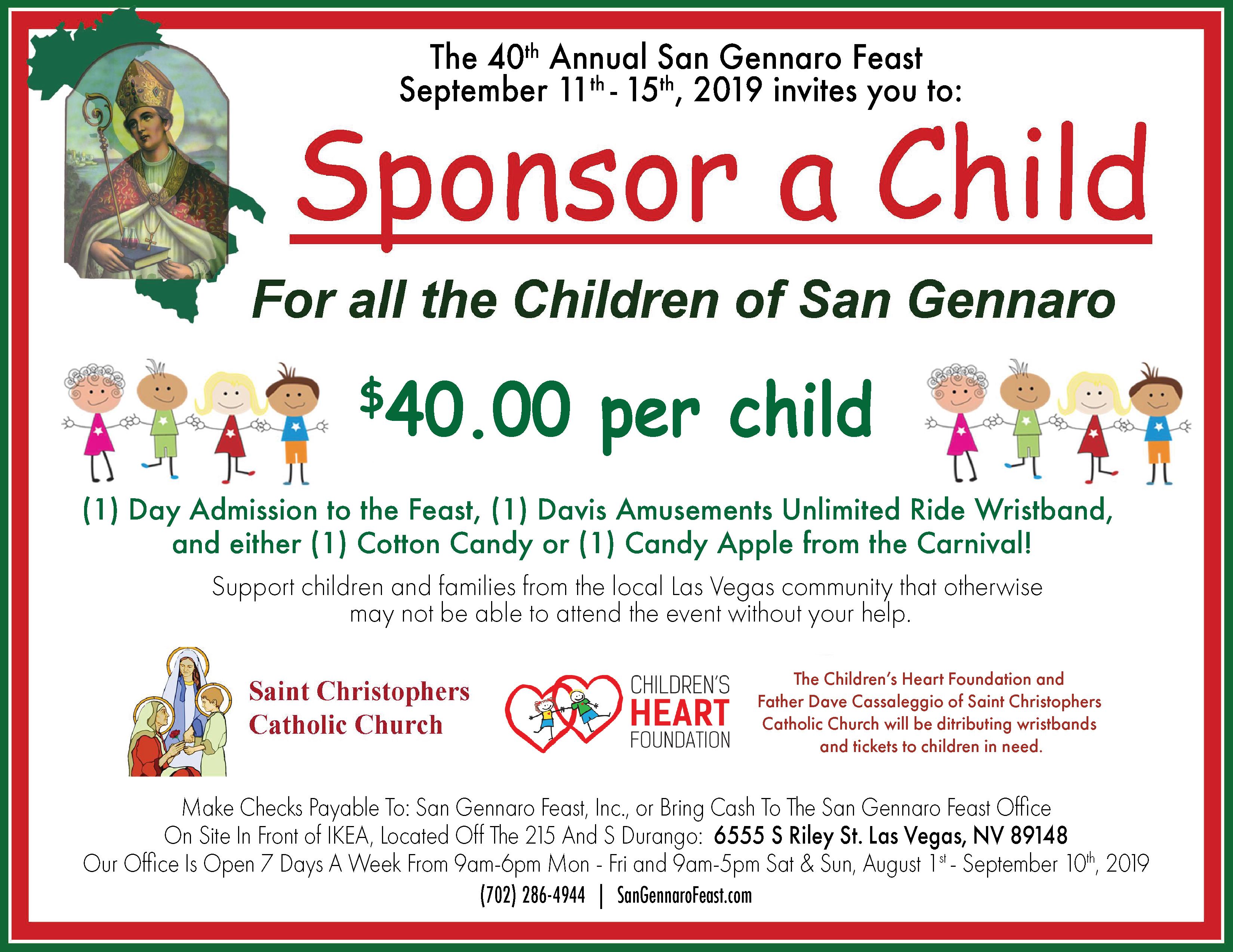 Sponsor A Child 2019-2